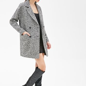 Oversized Double-Breasted Tweed Coat