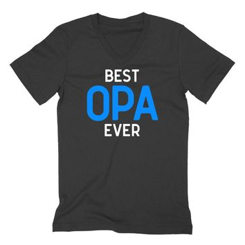 Best  opa ever, grandparents gift, Father's day gifts, grandpa V Neck T Shirt