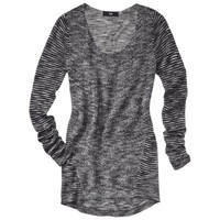 Mossimo® Women's Tunic Pullover Sweater - Black/Ivory