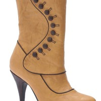 SHOES RUTH VICTORIAN TAN ADULT SHOES - Shoes & Boots