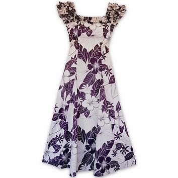 haven purple hawaiian leilani dress