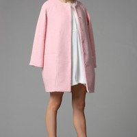 Minimalist Wool Coat | Pink
