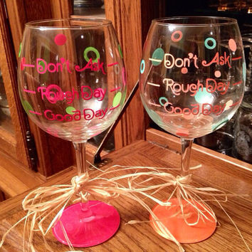 Personalized Wine Glass , Custom Wine Glass, Girlfriend Wine Glass