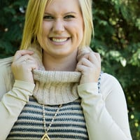 Cowl Neck Sweater Vest