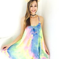 Braid My Love Into Your Colors Dress- Pastel Tie Dye {Boutique Collection}