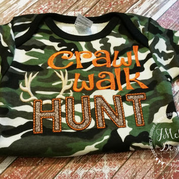 Crawl, Walk, Hunt - Hunting Tee - Custom Tee