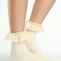 LACE TOP ANKLE SOCKS
