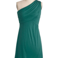 One Shoulder Cover-up Midnight Sun Dress in Teal