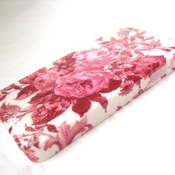 Rose Rouge Toile iPhone 4 or iPhone 4S Case
