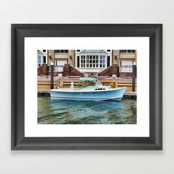 Motorboat Framed Art Print by lanjee