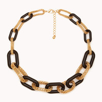 Popcorn Chain-Link Necklace