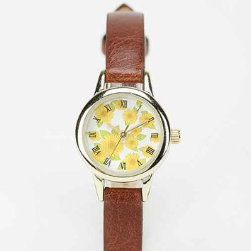 Lovely Sunflowers Watch- Brown One