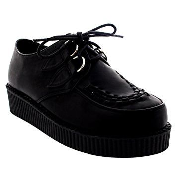 Womens Vintage Gothic Punk Festival Flat Brothel Creepers Flatform Shoes - 40 - ZSK0004K