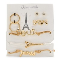 Aeropostale Womens Paris Jewelry 7-Pack - Natural,
