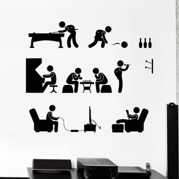 Vinyl Wall Decal Hobbies Weekend Game Room Entertainment Stickers Unique Gift (1012ig)