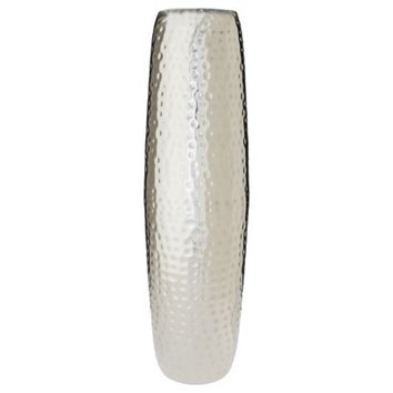 Threshold™ Slim Hammered Metal Floor Vase 24""