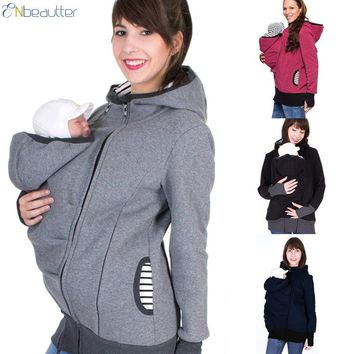 ENbeautter Parenting Child Winter Pregnant Women's Sweatshirts Baby Carrier Wearing Hoodies Maternity Mother Kangaroo Clothes