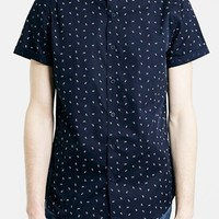 Men's Topman Daisy Print Short Sleeve Shirt