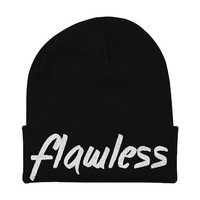 Flawless Beyonce Beanie - Hat Slouchy Beanie - Surfboard Bow Down Black Red Pink Grey FAN0059