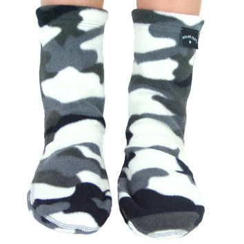 Kids' Fleece Socks - Snow Camo
