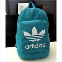 """Adidas"" Casual Sport Laptop Bag Shoulder School Bag Backpack Spell Lake blue"