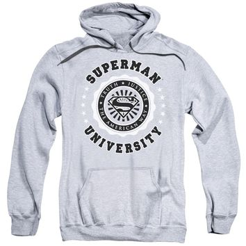 Superman - Superman University Adult Pull Over Hoodie