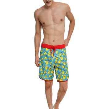 Licensed cool POKEMON GO GAME PIKACHU Board Shorts Swim Trunks Nintendo Men's XL-2X  SHIP