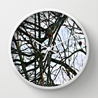 Trees, Nature, Renewal, Spring, Transition - 10 Inch Round Wall Clock -kitchen, nursery, childrens room, new home, fun -Made To Order-RNL#81