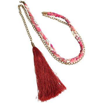 Emilio Pucci Belt - Braided Silk w/ Tassel