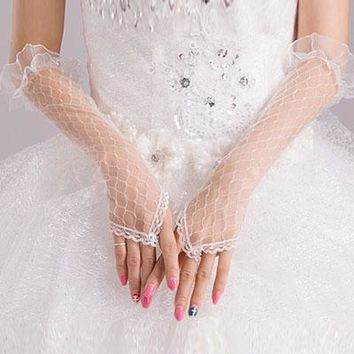 Fishnet Elbow Length Gloves LC73125