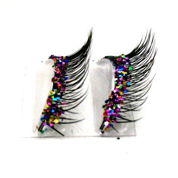 Natural Party Mix Glitter Faux Eyelashes by BedazzledbyErin