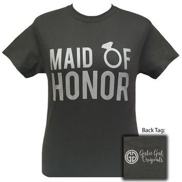 Girlie Girl Originals Maid of Honor Wedding Bridal Shower Party T-Shirt