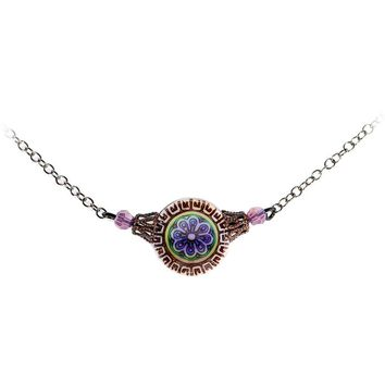 Handcrafted Antique Mood Necklace Created with Swarovski Crystals