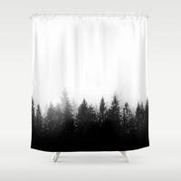 Scandinavian Forest Shower Curtain by nicklasgustafsson