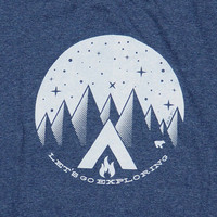 Let's Go Exploring t-shirt - Heather Navy