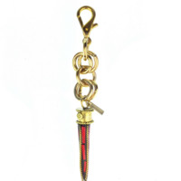 Red Dragon Tooth Keychain