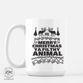 Merry Christmas Ya Filthy Animal - Mug