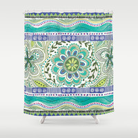 Boho Bloom Shower Curtain by Janet Broxon