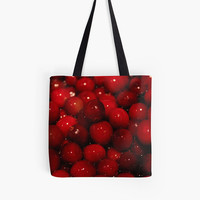 Cranberry Tote Bag, Red Bag, Nature Bag, Photo Tote Bag, Grocery Tote, Reusable Grocery Bag, Berry Tote Bag, Red Tote Bag, Cranberry Bag