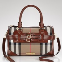 Burberry Checked Satchel | Bloomingdale's