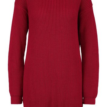 Crew Neck Jumper Dress | Boohoo