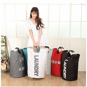X-Large Canvas Collapsible Pop Up Laundry Hamper Baskets for Students College