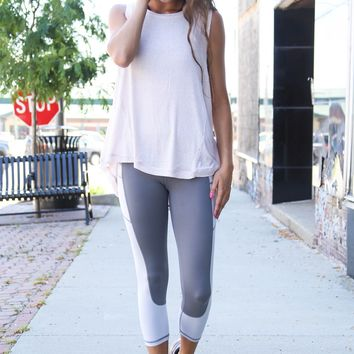 High-Waist Gray Days Legging, Gray