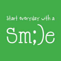 Start Everyday With a Smile - inspirational quote - Art Print - Motivational quote