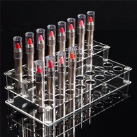 32 Holes Acrylic Stand Organizer Storage Holder Lipstick Nail Polish Cosmetic Display