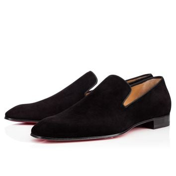 DANDELION FLAT BLACK Veau velours - Men Shoes - Christian Louboutin