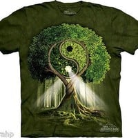 The Mountain Yin Yang Tree Ying Adult T-Shirt PRINT IN USA MT46 Bonsai