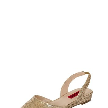*London Rebel Gold Glitter Slingback Shoes | Dorothyperkins