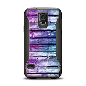 The Pink & Blue Dyed Wood Samsung Galaxy S5 Otterbox Commuter Case Skin Set