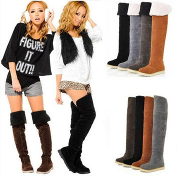 Womens Winter Warm Fashion Two-Way Over The Knee Boots Shoes 6 Sizes&4 Colors = 1946982340